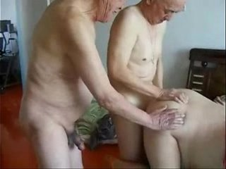 Granny cuckold. Amateur home made
