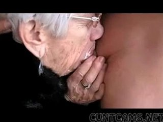 Granny Sucks Boys Hard-on for Her Bday - More at cuntcams.net