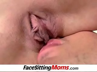 MILF-boy face-sitting with European blossom mom Beate