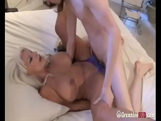 Warm GILF magnificent Auntie  Blonde Compels A Young Nephew Boy To Fuck Her