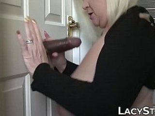 Granny takes big dick up in her anus