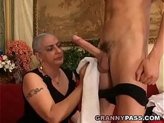 Granny Expereinces Ass fucking With Young Huge Hard-on
