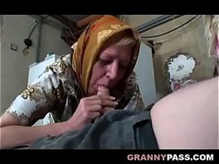Busty Granny Share Grandpa's Shaft With A Teenage