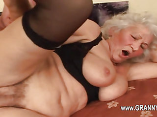 Seductive gonzo porn with granny