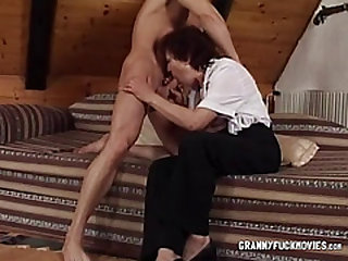Granny Has Firm Fun Bags Deepthroated