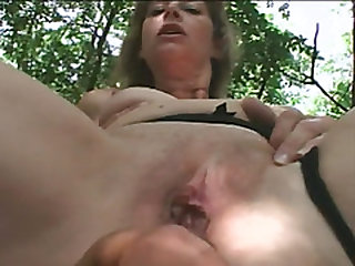 Chesty Granny Juditta Rides Lengthy Cock In Forest