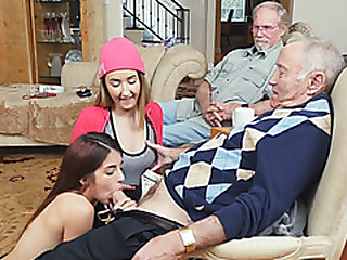 Oldies fortunate day liking 2 naughty slut college girls