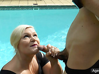 AgedLovE Lacey Starr Screwing Poolboy Hardcore
