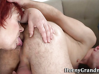Nuts rimming grandmother fucks and deepthroats