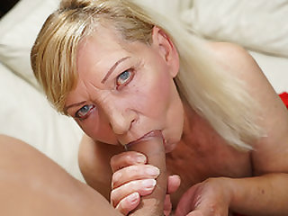 Blonde GILF in need of some dude act