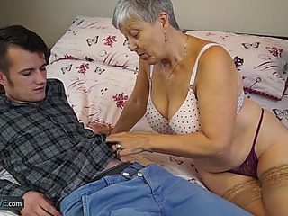 Granny Savana Nailed by Youthfull lad menacingfearsome AgedKitchen