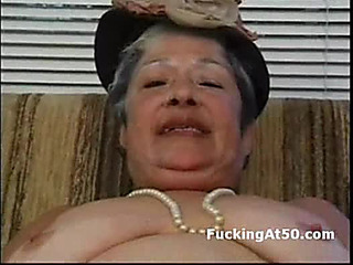 Lascivious granny wank untill cum and receive hard-core screwed by badass