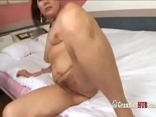 Insatiable Japanese Grannie Dual Penetration And Golden Shower