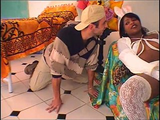 Hot brazilian baby sitter boinked hard by young boy!