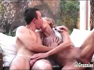 Youthfull Guy Smallish A Skinny Sadism Granny