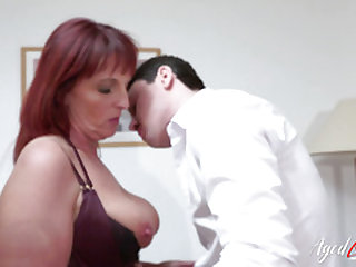 AgedLovE Mature Redhead Got Pounded Hardcore Way